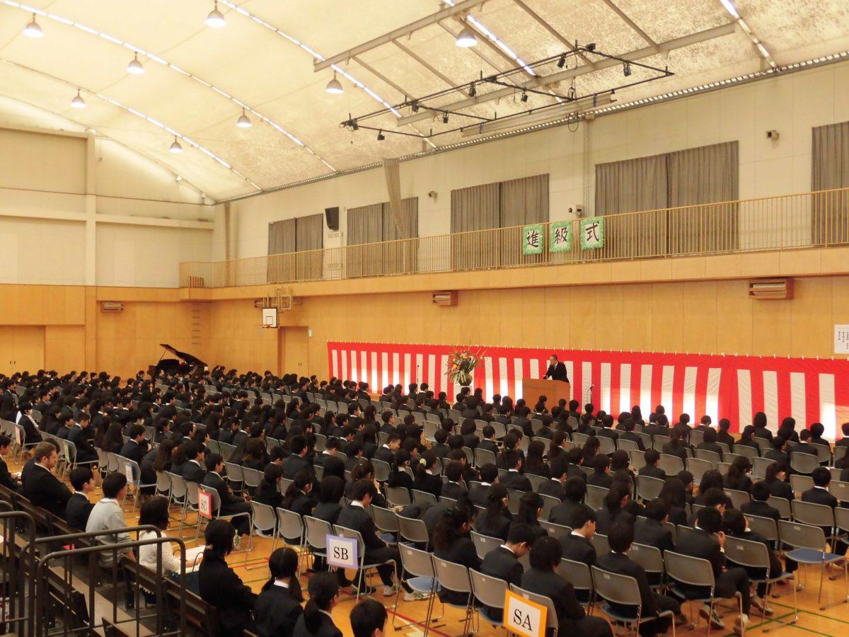 5年生進級式を行いました。