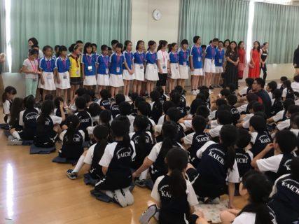中国成都龍泉実験小学校との交流会